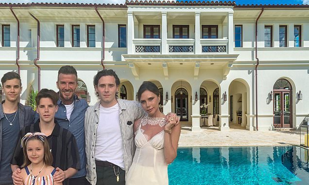 Inside the Beckhams' $20m Mediterranean-style holiday home in Miami
