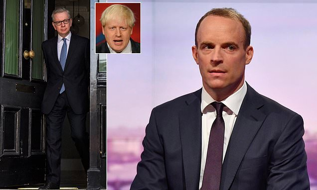 Dominic Raab blasts Boris Johnson and Michael Gove over Brexit