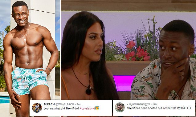 Love Island's Sherif Lanre 'has been kicked out of Love Island