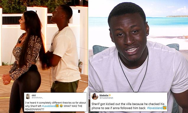Love Island viewers urge bosses to reveal why Sherif was axed