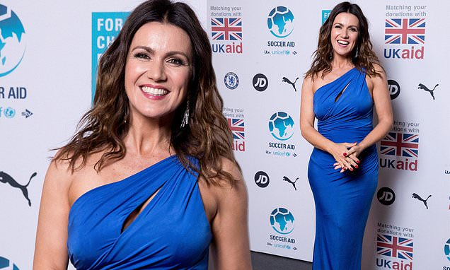 Susanna Reid turns heads in a blue gown for Soccer Aid UNICEF Gala