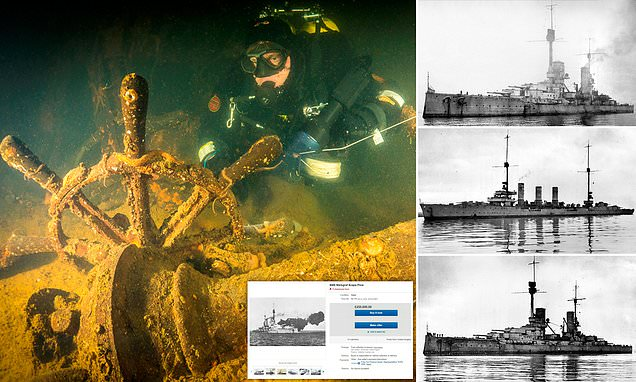 WWI warships on the Orkney seabed for sale on eBay for at £1 million