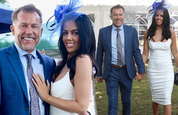 Coronation Street's Chris Quinten, 61, and fiancée Robyn, 21, at Ascot