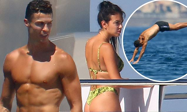 Cristiano Ronaldo shows off his diving skills during St Tropez getaway