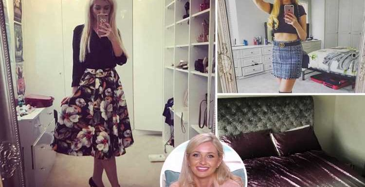 Inside Love Island star Amy Hart's stunning house with huge wardrobes, chandeliers and lavish bed