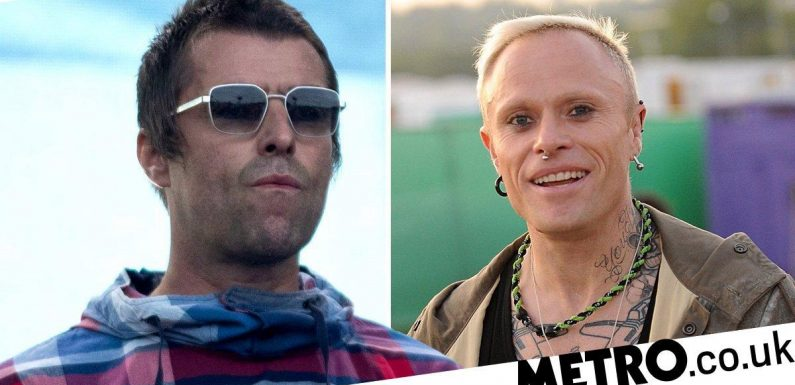 Liam Gallagher dedicates Champagne Supernova to Keith Flint at Glastonbury