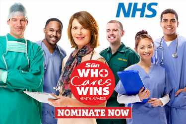 Nominate your NHS heroes for The Sun's Who Cares Wins health awards HERE