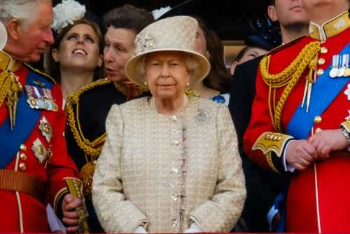 The Queen seemed especially grumpy on her fake birthday for Trooping the Colour