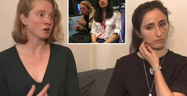 Defiant Ryanair stewardess and girlfriend battered on London bus 'because they refused to kiss' say 'we're not scared to be visibly queer'