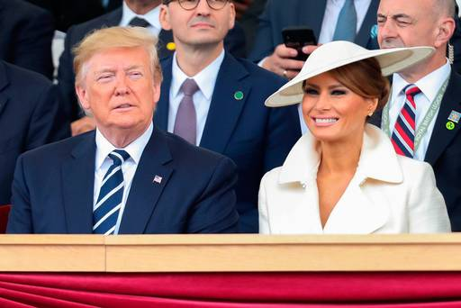 Melania Trump channels royal style with Irish-designed Philip Treacy hat in London