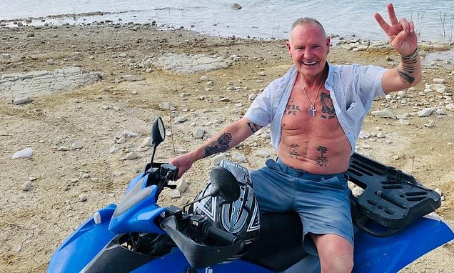 England legend Paul Gascoigne, 52, is catapulted off quad bike