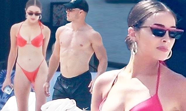 Olivia Culpo shows off her bod while in Cabo with Christian McCaffrey