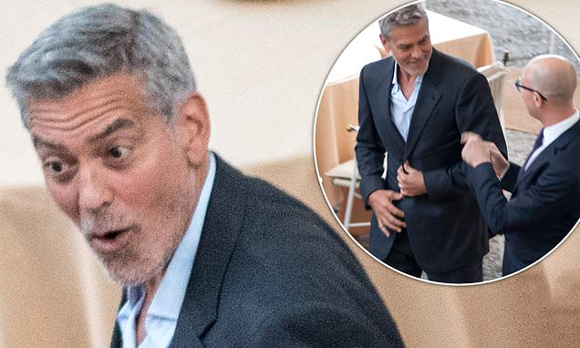 George Clooney shows off his natural charm and charisma in Lake Como