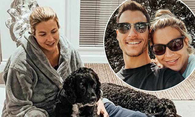 Gemma Atkinson shares snap of devoted dogs after waters broke