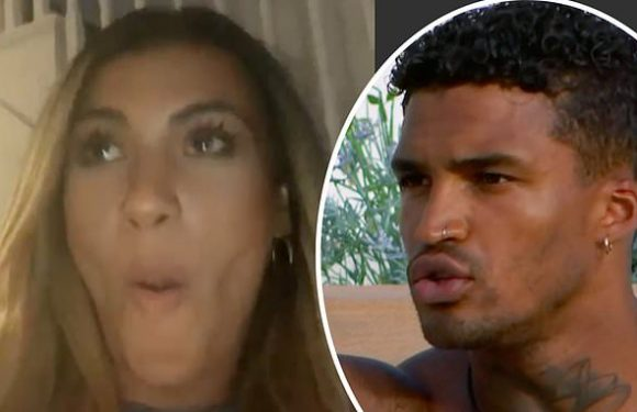 Love Island's Joanna accuses Michael of 'pointing the finger' at her