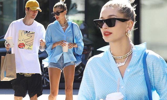 Justin Bieber and wife Hailey Baldwin step out for an afternoon snack