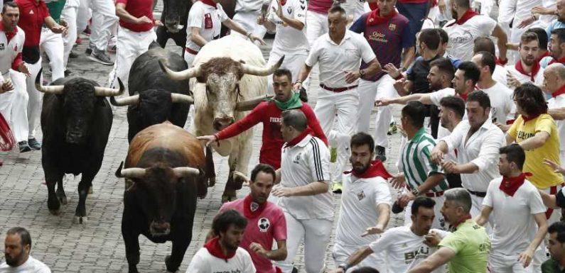 Woman, 19, gored in the back on second day of Pamplona's bloody Running Of The Bulls festival