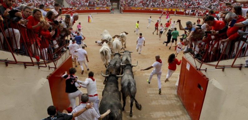 Two Australians gored by bull at Pamplona festival