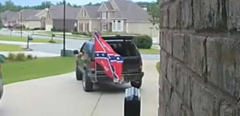 Black couple turns away white repairman who had Confederate flag on truck