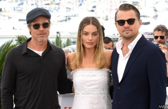 Brad Pitt and Margot Robbie Press Leonardo DiCaprio on That 'Titanic' Door Controversy