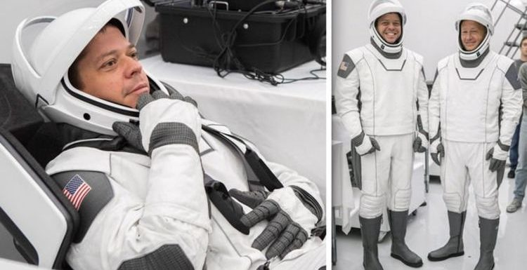 NASA news: See astronauts all dressed up in futuristic SpaceX spacesuits for Dragon launch