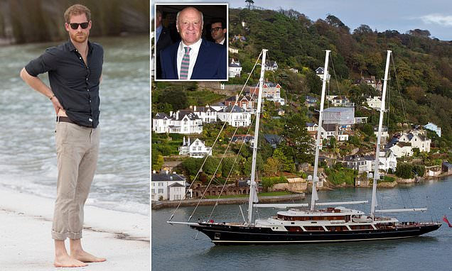Prince Harry 'stayed on gas guzzling super-yacht for green summit'