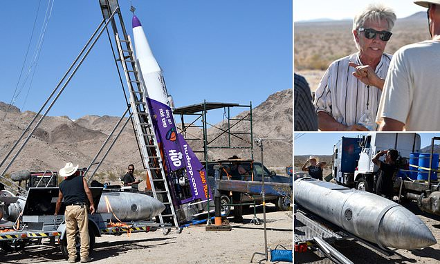 Flat-Earther's bid to launch into the air on a homemade rocket fails