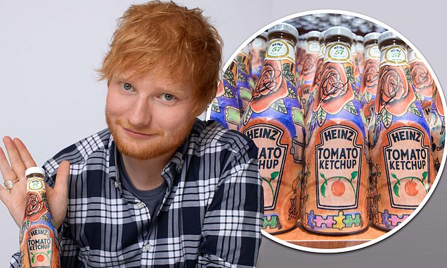 Heinz ketchup designed by singer Ed Sheeran raises £1.5k for charity