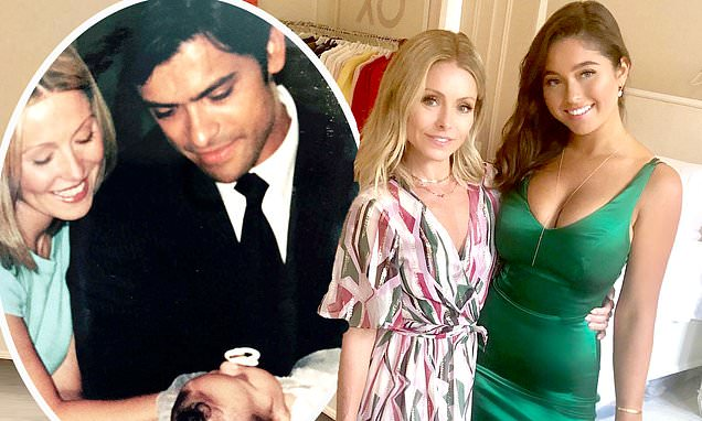 Kelly Ripa posts #tbt pic of daughter's christening as she goes to uni