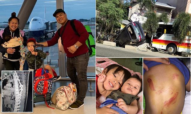 NHS Nurse, 33, and her family are left stranded in the Philippines