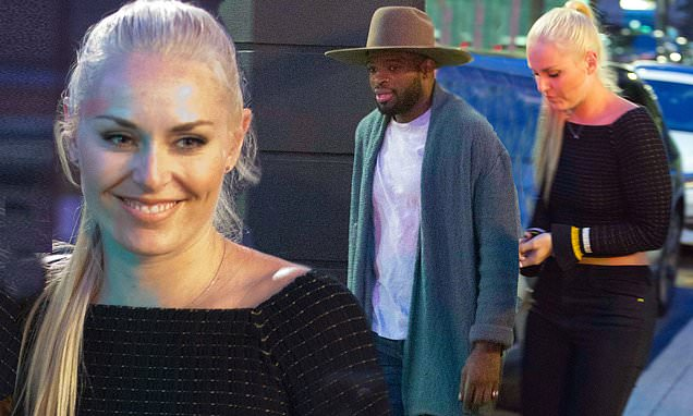 Lindsey Vonn and P.K. Subban are seen after engagement news