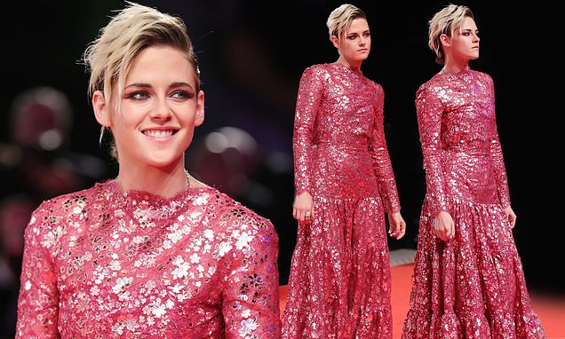 Kristen Stewart stuns in feminine red gown for Seberg premiere