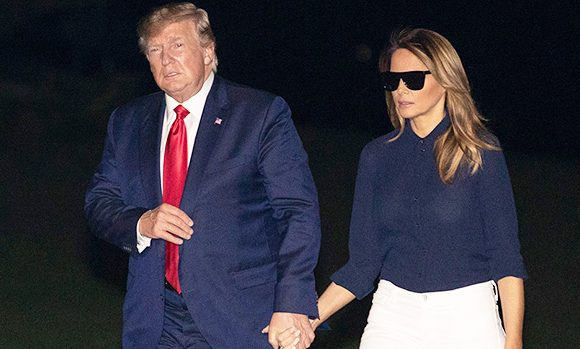 Melania Trump Trolled For Wearing Sunglasses At Night While Arriving Back In D.C. With Donald