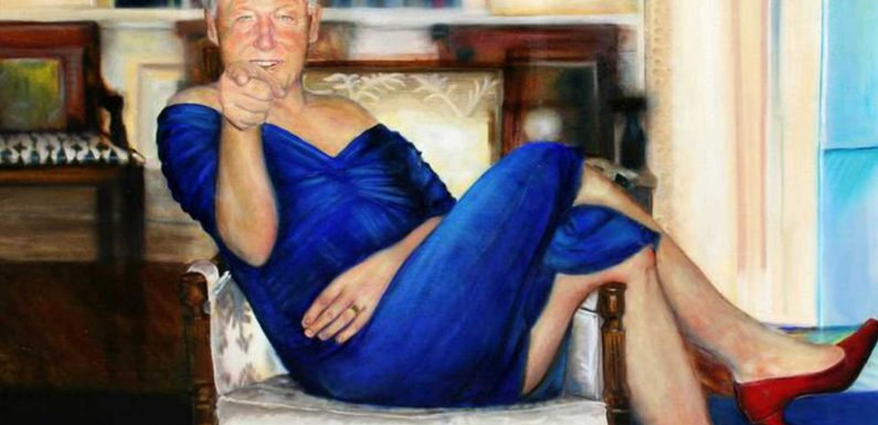 Artist who painted Bill Clinton in dress and heels had 'no idea' it was hanging in Epstein's mansion