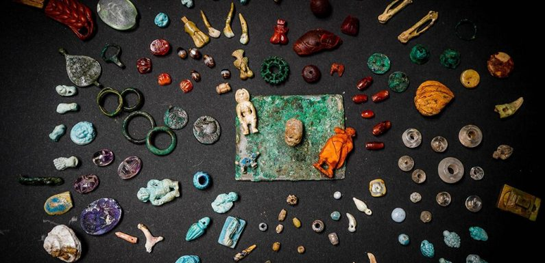 Pompeii 'sorcerer's treasure trove' discovered, with bones, skull charms and gems for rituals