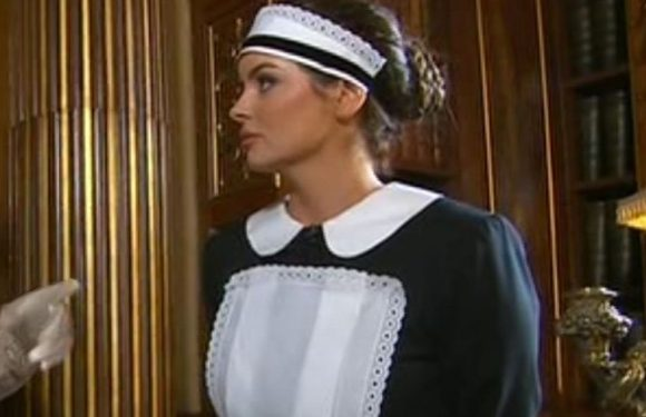 Maura Higgins dresses in French maid outfit during This Morning special