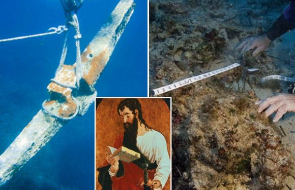 Biblical shipwreck of St Paul 'found' as holy ship's anchor unearthed off Malta