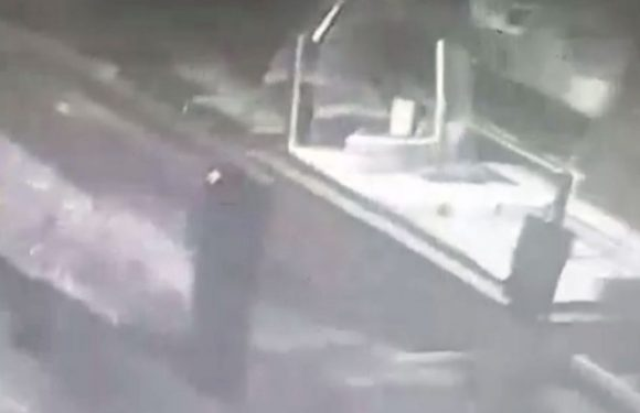 New footage of 'female ghost in service station' shows items flying off walls