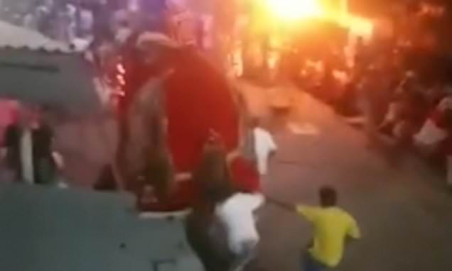 Elephant runs wilds and tramples 18 people in terrifying video