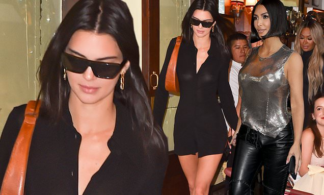 Kendall Jenner nails off-duty sophistication in sheer LBD