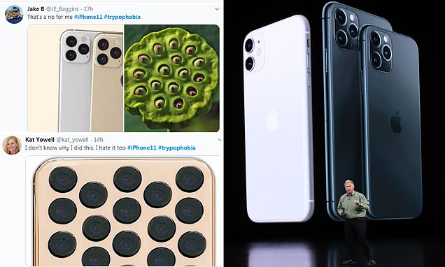 Three-camera cluster on the new iPhone 11 is triggering trypophobia