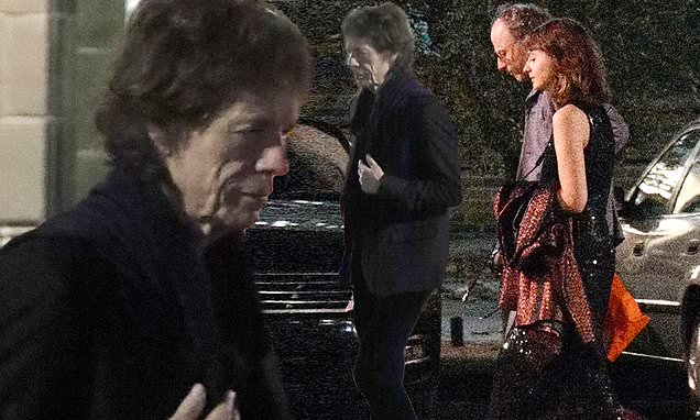 Mick Jagger EXC: Rocker, 76, enjoys night on the town with brunette