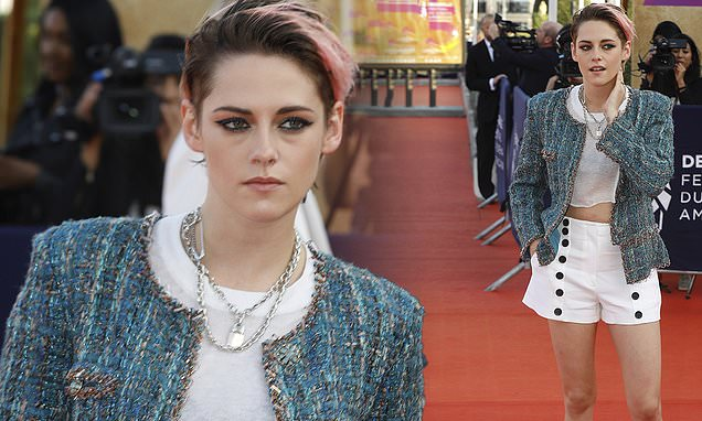 Kristen Stewart flashes long legs on the red carpet
