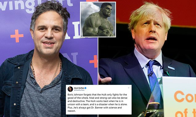 Mark Ruffalo rejects Boris Johnson's Incredible Hulk claim on Brexit