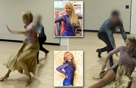 The moment Christie Brinkley, 65, falls and breaks her arm