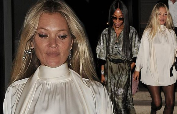 Kate Moss enjoys girls' night out with Naomi Campbell at Annabel's