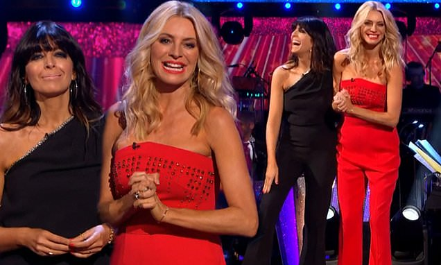 Strictly: Tess Daly and Claudia Winkleman dazzle at series launch