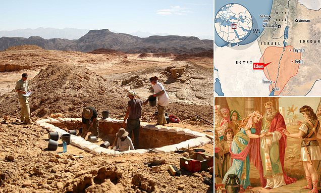 Slagheaps reveal ancient Biblical kingdom of Edom was REAL