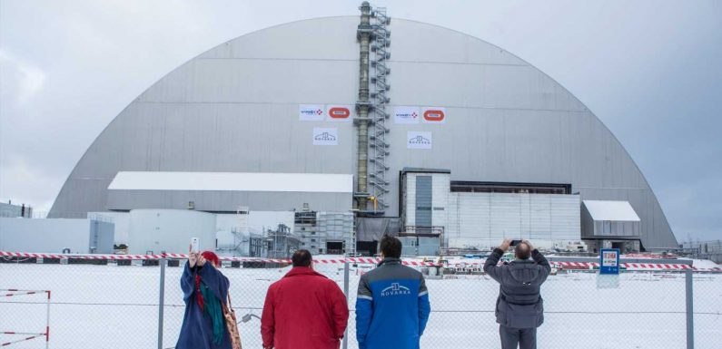 Chernobyl's 'sarcophagus' is getting dismantled because it's teetering on collapse. Photos reveal the structure's rise and fall.