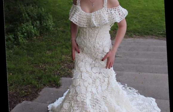 These wedding dresses are made entirely out of toilet paper: Take a look